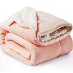 Bedsure Sherpa Fleece Throw Blanket-Couch-Pink